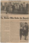 The Mother Who Broke the Boycott by David Zinman