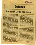 Research Aids Teaching by James W. (James Wesley) Silver (1907-1988)
