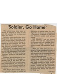 Soldier, Go Home by (Author Unknown)