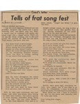 Coed's Letter Tells of Frat Song Fest by Mary Jo Latham