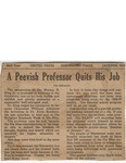 A Peevish Professor Quits His Job by (Author Unknown)