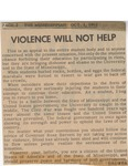 Violence Will Not Help by Sidna Brower