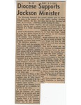Diocese Supports Jackson Minister by (Author Unknown)