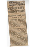 Integration Blamed In Death Of Veterans by (Author Unknown)