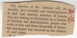 The Election of Mr. Johnson Will by Author Unknown