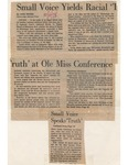 Small Voice Yields Racial Truth at Ole Miss Conference by Anne Wetzel