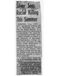 Silver Sees Racial Killing This Summer by (Author Unknown)