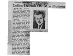 Collins Defends Ole Miss Professor by (Author Unknown)