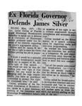 Ex-Florida Governor Defends James Silver by Associated Press