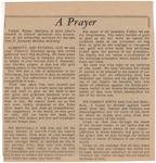 A Prayer by Walter Maloney