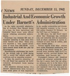 Industrial And Economic Growth Under Barnett's Administration