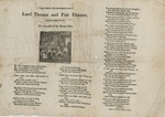 A Tragics Ballad of the Unfortunate Loves of Lord Thomas and Fair Eleanor