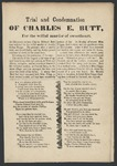 Trial and Condemnation of Charles E. Butt, for the willful murder of sweetheart