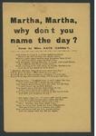 Martha, Martha, why dont you name the day?