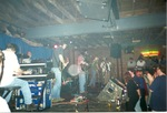 On stage, smoky venue: view from floor by Kudzu Kings (Musical Group)
