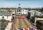 Flags of Great Britain and Canada on parade, image 002 by Author Unknown