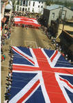 Flags of Great Britain and Canada on parade, image 003 by Author Unknown