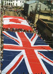 Flags of Great Britain and Canada on parade, image 004 by Author Unknown