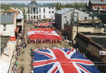 Flags of Great Britain, Canada and the United States on parade, image 004 by Author Unknown