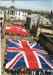 Flags of Great Britain, Canada and the United States on parade, image 005 by Author Unknown