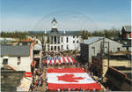 Flags of Canada and the United States on parade, image 002 by Author Unknown