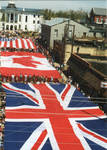 Flags of Great Britain, Canada and the United States on parade, image 002 by Author Unknown