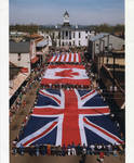 Flags of Great Britain, Canada and the United States on parade, image 003 by Author Unknown