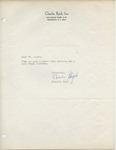 Charlie Byrd to Walter Lyons by Charlie Byrd