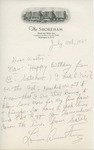 Louis Armstrong to Walter Lyons by Louis Armstrong and Joe Glaser