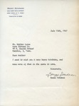 Benny Goodman to Walter Lyons by Benny Goodman