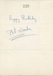 Phil Woods to Walter Lyons by Phil Woods