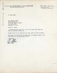Don Ellis to Walter Lyons by Don Ellis