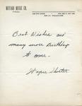 Wayne Shorter to Walter Lyons by Wayne Shorter