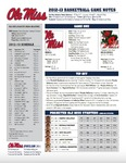 Ole Miss vs. Mississippi Valley State by Ole Miss Athletics. Men's Basketball