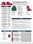 Ole Miss Game Notes Coastal Carolina by Ole Miss Athletics. Men's Basketball