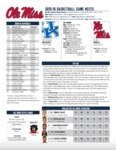 Ole Miss Game Notes Kentucky