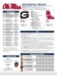 Ole Miss Game Notes Georgia by Ole Miss Athletics. Men's Basketball