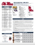 Ole Miss Game Notes LSU by Ole Miss Athletics. Men's Basketball