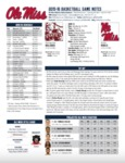 Ole Miss Game Notes Mississippi State