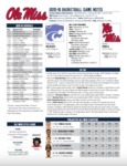Ole Miss Game Notes Kansas State by Ole Miss Athletics. Men's Basketball