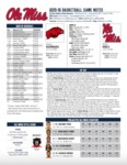 Ole Miss Game Notes Arkansas by Ole Miss Athletics. Men's Basketball