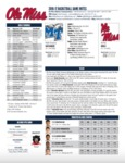 Ole Miss Game Notes Middle Tennessee by Ole Miss Athletics. Men's Basketball