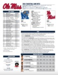 Ole Miss Game Notes Memphis by Ole Miss Athletics. Men's Basketball