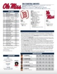 Ole Miss Game Notes Bradley by Ole Miss Athletics. Men's Basketball