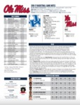 Ole Miss Game Notes Kentucky by Ole Miss Athletics. Men's Basketball