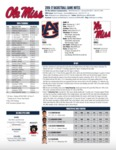 Ole Miss Game Notes Auburn by Ole Miss Athletics. Men's Basketball