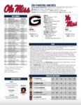 Ole Miss Game Notes Georgia