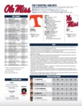 Ole Miss Game Notes Tennessee by Ole Miss Athletics. Men's Basketball