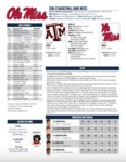 Ole Miss Game Notes Texas A&M by Ole Miss Athletics. Men's Basketball