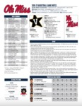 Ole Miss Game Notes Vanderbilt by Ole Miss Athletics. Men's Basketball